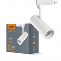 LED светильник трековый VIDEX 10W 4100K 220V белый (VL-TR04-104W) (25914)