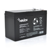 Аккумуляторная батарея MERLION AGM GP1272F1 12 V 7,2 Ah ( 150 x 65 x  95 (100) ) White/Black Q10