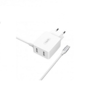 СЗУ HAVIT HV-H144 Dual Travel Charger With Tipe-C cable , white (5V/3,4A)