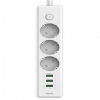 Сетевой-фильтр удлинитель HAVIT HV-SP8813 3 USB+3 розетки, white 40шт/ящ