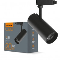 LED светильник трековый VIDEX 20W 4100K 220V черный (VL-TR04-204B) (25912)