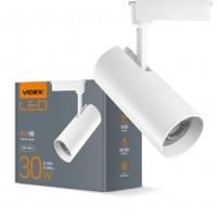 LED светильник трековый VIDEX 30W 4100K 220V белый (VL-TR04-304W) (25916)