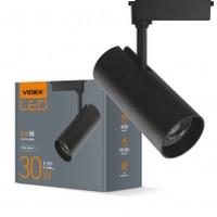 LED светильник трековый VIDEX 30W 4100K 220V черный (VL-TR04-304B) (25913)
