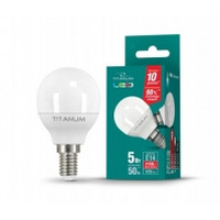 LED лампа TITANUM G45 5W E14 4100K 220V (TL-G45-05144)