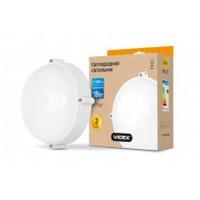 LED светильник (ЖКХ) Aluminum круглый VIDEX 18W 5000K 220V белый (VL-BHR-185AW)