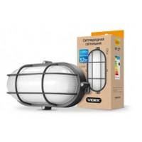 LED светильник (ЖКХ) овальный VIDEX 12W 5000K 220V черный усиленный (VL-BHO-125ABR)