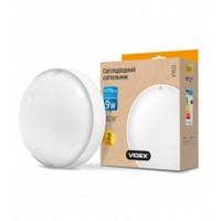 LED светильник (ЖКХ) круглый VIDEX 9W 5000K 220V белый (VL-BHR-095PW) (24360)