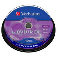 VERBATIM DVD+R 8,5Gb DL 8x Cake 10 pcs
