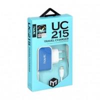 СЗУ HAVIT HV-UC215 with Micro-USB cable 1m, black (80шт/ящ)