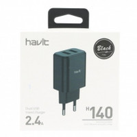 СЗУ HAVIT HV-H140  BLACK DUAL USB charger (5V/2.4A)