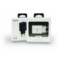СЗУ HAVIT HV-H140  WHITE DUAL USB charger (5V/2.4A)