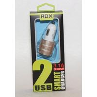 АЗУ REDDAX RDX-114 двойная USB-автомобильная зарядка 3.1A блист