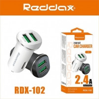 АЗУ REDDAX RDX-102 MINI SMART DUAL USB/MICRO (V8) CABLE (2400mAh) блист