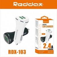 АЗУ REDDAX RDX-103 LONG SMART DUAL USB/MICRO (V8) CABLE (2400mAh) блист