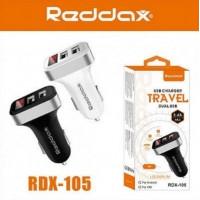 АЗУ REDDAX RDX-105 двойная USB-автомобильная зарядка 2.4A/MICRO(V8) CABLE DIGITAL VOLTAJ DEDECTION