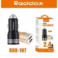 АЗУ REDDAX RDX-107 двойная USB-автомобильная зарядка/MICRO (V8) CABLE 2.4A АЛЛЮМИНИЕВЫЙ КОРПУС блист