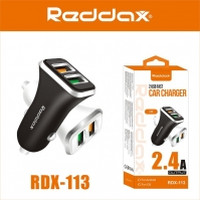 АЗУ REDDAX RDX-113 двойная USB-авто зарядка/MICRO (V8) CABLE корпус ABS 2,4A блист