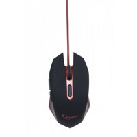 Мышка Gembird MUSG-001-R GAMING black-red