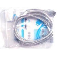 Кабель USB AM/AF 5m прозрачная оплетка с фильтром LUX