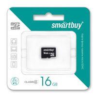 Карта памяти micro-SDHC Smartbuy 16GB (class10)