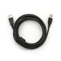 Кабель USB AM/AF 5m черный с фильтром