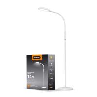 LED торшер напольный белый VIDEX  VL-TF07W 14W 3000-5500K 220V(4шт/ящ) (24857)