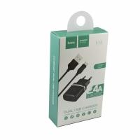 СЗУ HOCO C12 Smart 2USB/2,4A+Micro USB cable