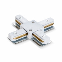 Соединитель для шинопроводов крестообразный VIDEX VL-TRF-CTX-W белый (25932)