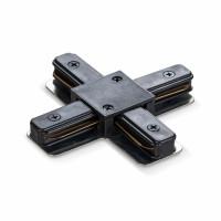 Соединитель для шинопроводов крестообразный VIDEX VL-TRF-CTX-B черный (25929)