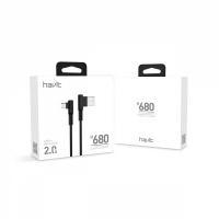 Кабель HAVIT smart phone data cable  HV-H680 usb to micro usb gaming cable black (100шт/ящ)