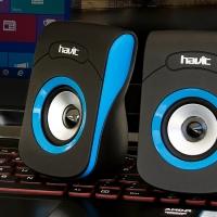 Мультимедийная акустическая система HAVIT HV-SK599 USB, black/blue