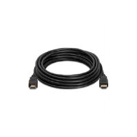 Кабель HDMI-HDMI HIGH SPEED 0.8m, v1.4, OD-7.5mm, круглый Black, коннектор Black, (Пакет) Q500