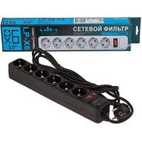 Фильтр-удлинитель сетевой LogicPower LP-X6, 6 розеток, 3,0 m