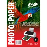 Фотобумага MAGIC A4 Glossy 135g  (100sheets)
