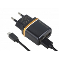 СЗУ REDDAX RDX-014 DUAL USB/TYPE-C CABLE (2100mAh) блист