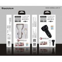 АЗУ REDDAX RDX-109 2 USB/MICRO (V8) CABLE технология быстрой зарядки Qualcomm Quick Charge 3.0