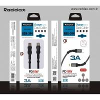 Кабель Reddax RDX-394 тканевой TYPE-C TO MICRO USB (PD/18W) 3A