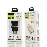 СЗУ REDDAX RDX-014 DUAL USB/MICRO (V8) CABLE (2100mAh) блист