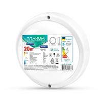 LED светильник IP65 круглый TITANUM 20W 6500K 220V  TL-BHR-206 (26599)