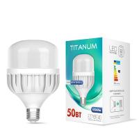 LED лампа TITANUM A138 50W E27 6500К 220V (TL-HA138-50276) 8шт (26395)