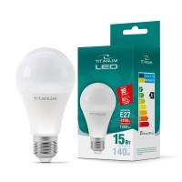 LED лампа TITANUM A65 15W E27 4100K 220V 50шт/ящ (25381)