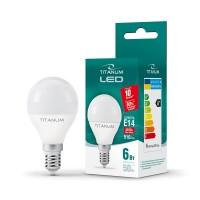 LED лампа TITANUM G45 6W E14 4100K 220V 100шт/ящ (24999)