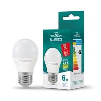 LED лампа TITANUM G45 6W E27 3000K 220V 50шт/ящ (25681)