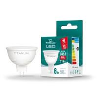 LED лампа TITANUM MR16 6W GU5.3 4100K 220V 50шт/ящ (25001)