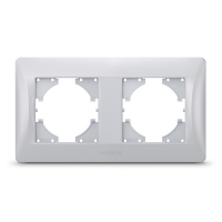 VIDEX BINERA Рамка серебряный шёлк 2 поста горизонтальная (VF-BNFR2H-SS) (12/96)