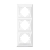 VIDEX BINERA Рамка белая 3 поста вертикальная (VF-BNFR3V-W) (12/96)
