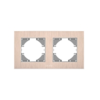 VIDEX BINERA Рамка медный алюминий 2 поста горизонтальная (VF-BNFRA2H-CP) (6/48)