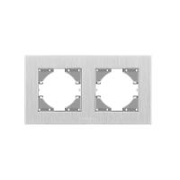 VIDEX BINERA Рамка серебристый алюминий 2 поста горизонтальная (VF-BNFRA2H-SL) (13/104)