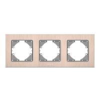 VIDEX BINERA Рамка медный алюминий 3 поста горизонтальная (VF-BNFRA3H-CP) (6/48)