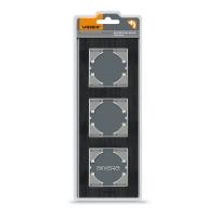 VIDEX BINERA Рамка черный алюминий 3 поста вертикальная (VF-BNFRA3V-B) (6/48)
